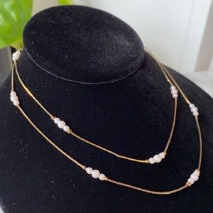 🎉5/20 SALE🎉 VTG gold tone chain with faux pearls